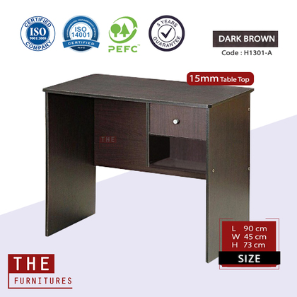 THE Writing Table Office Table Solid Board with 1 Drawer (L90 x W45 x H73cm)